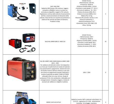 Stock saldatrici, caricabatterie e accessori vari 2032pz