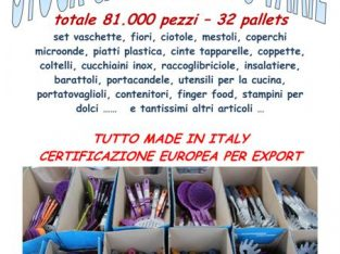 stock casalinghi assortiti 81000 pezzi made in Italy