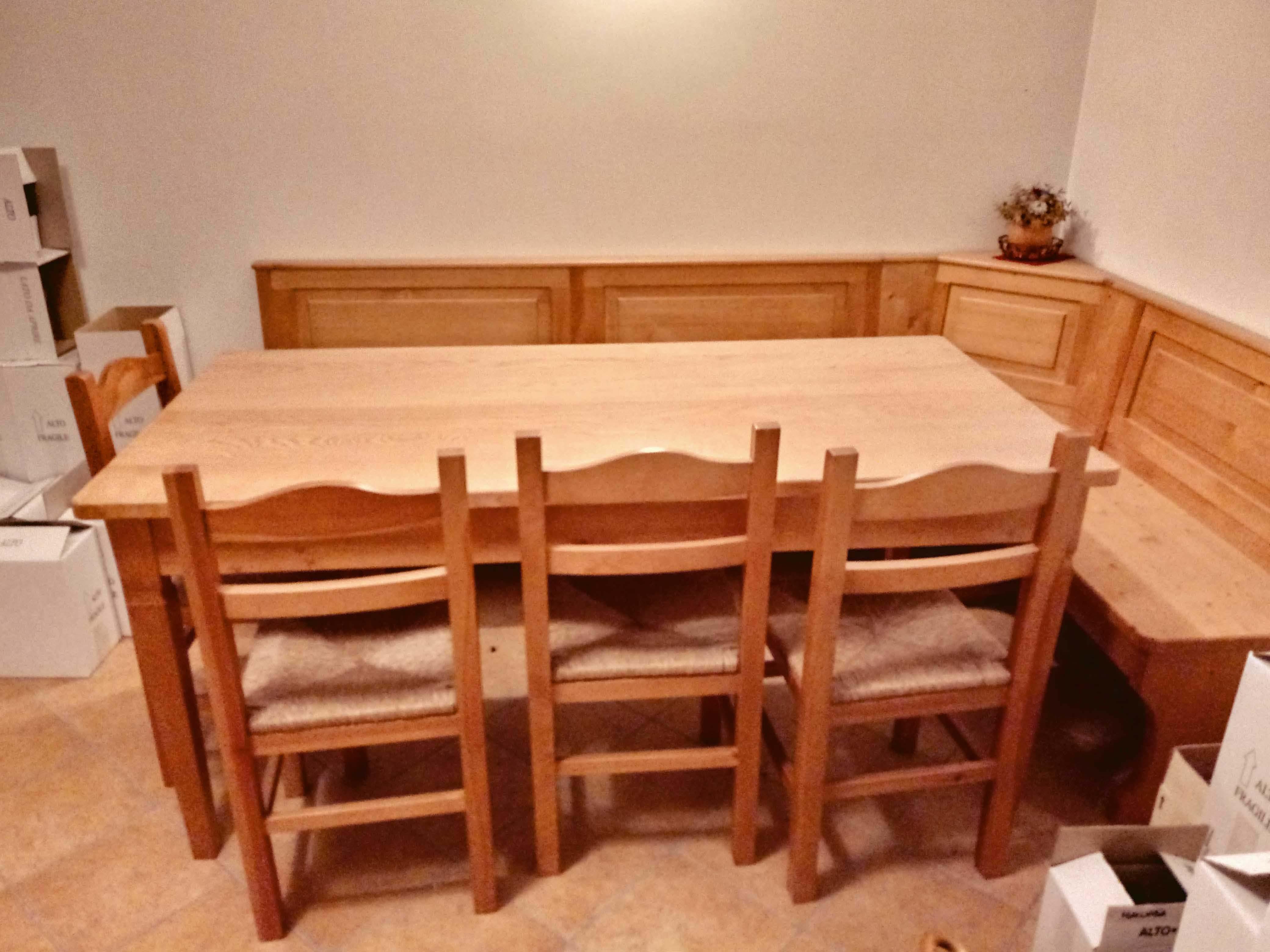 Sedie Per Tavolo Legno Massello vendo tavolo con panca e sedie per taverna – labancarella