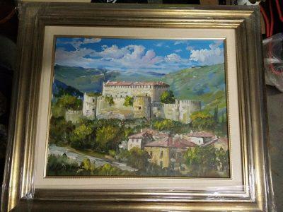 Quadro Marianelli Olio su tela 30×50 , Castello di Gorizia Cerificato + Cornice