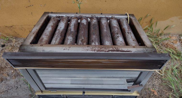 Inserto caminetto a legna, ventilato